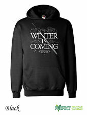 WINTER IS COMING STARK GAME OF THRONES MENS WOMENS  Hoodie S-XXL - black