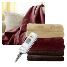Sunbeam 2 Person Microplush X-Large Electric Heated Throw Blanket Color Choices