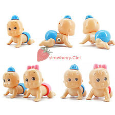 Boy & Girl Cute Windup Crawling Crawl Toy Doll Christmas Gift for Child Baby Kid
