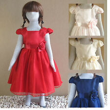 Girl Dresses / Wedding / Prom / Party age 4,5,6,7 years Red,Navy,Pink,Cream