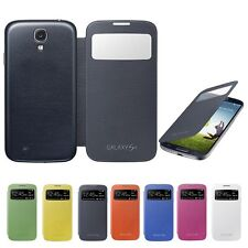 For Samsung Galaxy S4 IV Flip Back Housing S-View Case Auto Sleep/Wake