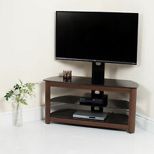 Walnut High Gloss TV Stand Black Glass TV Unit Bracket 32 37 40 42 46 50 52 55