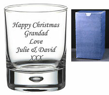 Personalised 8oz Whisky Glass Engraved Christmas Xmas Gifts Dad, Grandad, Daddy