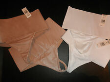 *SPECIAL* 2 NWT Hanes Her Way Body Creations Shaper Sculpting Band Thong satin