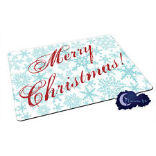 Merry Christmas Holiday Snowflakes - Tempered Glass Bar & Kitchen Cutting Board