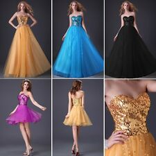 Shining Sequins Evening Prom Party Cocktail Homecoming Short Long Style Dresses