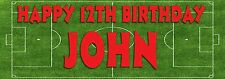 Personalised football fan Party Banner for kids/childrens birthday Party