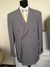 mens' basic double breasted suit. solid Gray by Milano Moda Stye #901P