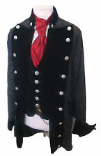 Steampunk Gothic Raven Pirate jacket RR3 ,waistcoat,compass on chain and cravat