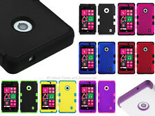 Nokia Lumina 521 Solid Color TUFF Dual Layer Hybrid Protector Cover Case