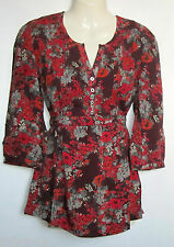 NEW LADIES MONSOON FLORAL PRINT TUNIC TOP SIZE 8 - 18 BNWOT