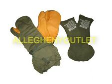 Military Army Marine Sniper Leather Trigger Finger Shooting Gloves Mittens - OD