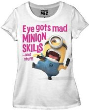 DESPICABLE ME 2 ONE EYE GOTS MAD MINION SKILLS WOMENS T-SHIRT JUNIORS S M L XL