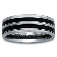 Tungsten and Black Ceramic Men's Band (8 mm)