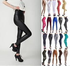 Sexy Women Skinny Faux Leather Leggings Pants Tights High Waist Trousers