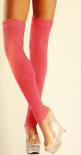 """Cozy Leg Warmers Ribbed Petite 14-1/2"""" Long Neon Green Blue or Pink BW 711"""
