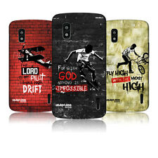 HEAD CASE CHRISTIAN RIDER PROTECTIVE SNAP-ON BACK CASE COVER FOR LG NEXUS 4 E960