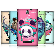 HEAD CASE FAUNA HIPSTERS HARD BACK CASE COVER FOR SONY XPERIA E DUAL C1605 C1505