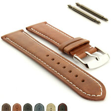 Genuine Leather Watch Strap Band TWISTER Mens Stainless Steel Buckle