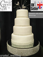 Diamante crystal effect wedding cake stand  round or square