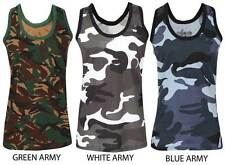 Men Military Camouflage Urban Army Training Cotton Combat Muscle Vest Tank Tops