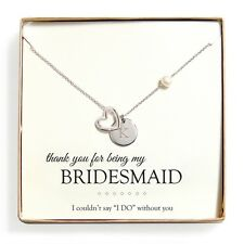 Cathy's Concepts 'Bridesmaid Thank You' FW Pearl Heart Necklace