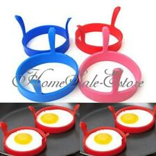 2X/4X Kitchen Silicone Fried Fry Frier Oven Poacher Pancake Egg Poach Ring Mould