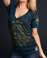 Affliction BENT WRENCH Womens V-Neck Top NWT. FREE SHIPPING