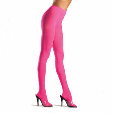 Be Wicked! 620 Semi Opaque Lycra Tights Pantyhose Reg or Plus 1X Queen Neon Pink