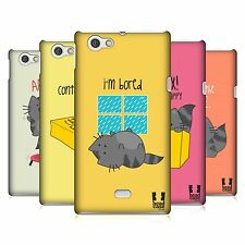 HEAD CASE DESIGNS WILBUR THE CAT HARD BACK CASE COVER FOR SONY XPERIA MIRO ST23i
