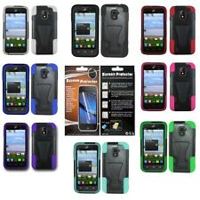 For ZTE Majesty Z796C / Source N9511 Hybrid Armor Case Cover+Screen Protector
