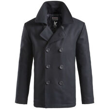 SURPLUS CLASSIC VINTAGE PEA COAT WINDPROOF MENS ARMY WINTER REEFER JACKET NAVY