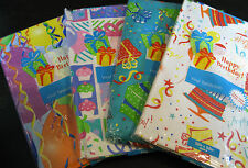 HAPPY BIRTHDAY FLANNEL-BACKED VINYL - ASSORTED COLORS &  SIZES-NEW
