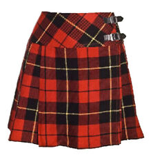 New Ladies Wallace Tartan Scottish Mini Billie Kilt Skirt Sizes 8-16UK