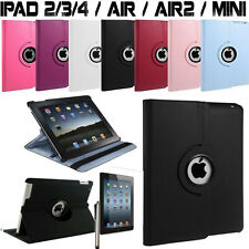 HOUSSE COQUE ETUI CUIR PU  IPAD 2/3/4/5 AIR IPAD MINI ROTATIVE 360°+STYLET+FILM