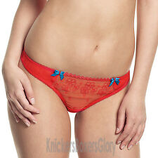 Panache Cleo Lingerie Lucy Thong/Knickers Red 5859 NEW Select Size
