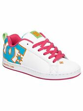WOMENS DC COURT GRAFFIK SKATEBOARDING SHOES WHITE OCEAN CITRUS      (WO1)