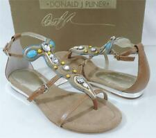 Women's shoes Donald J Pliner  BRYCE  jeweled T-strap sandals in Sand
