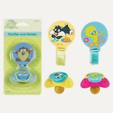 CLEARANCE, LOONEY TUNES PACIFIER & HOLDER, BUGS BUNNY, TWEETY BIRD, BABY SHOWER