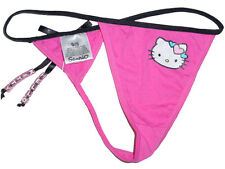 NWT SANRIO HELLO KITTY 3D LETTER BEADS PINK SEXY G-STRING PANTY GIFTS L