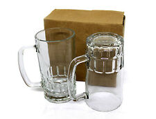 22oz Glass Stein Beer Mug SUBLIMATION Mugs For Heat Press Printing Transfer