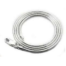 """1.2mm-2.2mm Snake Chain Bracelets .925 Solid Sterling Silver Made in Italy 7-10"""""""
