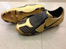 FOOTBALL SHOES SCARPE CALCIO NIKE TOTAL90 STRIKE II FG 318792 701 MET GOLD/BLACK