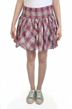 New Womens Superdry Twinsheer Mini Skirt Tinted Blush Red