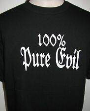 100% Pure Evil t-shirt NEW Goth Hearse Halloween Skull Skeleton Reaper Coffin