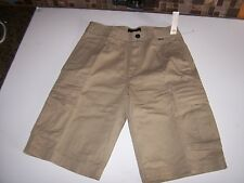 New Hurley sand beige khaki chino CARGO shorts men sz 28 29 or 36