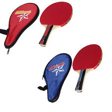 Ping Pong Table Tennis Racket Paddle Set With Case Pouch Sport Game Red/Blue