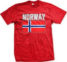 Norway Norwegian Country Flag Nationality Ethnic Pride -Men's T-shirt