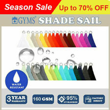 Waterproof HEAVY DUTY SHADE SAIL 5M x 5M x 5M Triangle choosing color