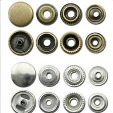 25/50/100 Heavy Duty 15mm Poppers Buttons Snap Fastener Press Studs Sewing Rivet